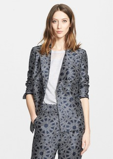 Nordstrom Signature and Caroline Issa Geo Print Wool & Silk Jacket