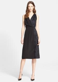 Nordstrom Signature and Caroline Issa Jacquard Contrast Silk Dress