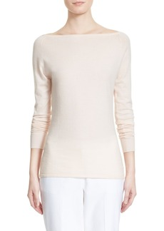Nordstrom Signature and Caroline Issa 'Jumping' Ballet Neck Cashmere Blend Pullover