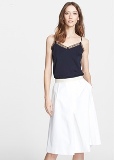 Nordstrom Signature and Caroline Issa Lace Trim Silk Twill Camisole