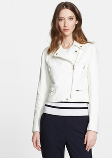 Nordstrom Signature and Caroline Issa Leather Biker Jacket
