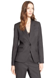 Nordstrom Signature and Caroline Issa One-Button Wool Suiting Jacket