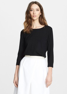 Nordstrom Signature and Caroline Issa Open Back Cashmere Sweater
