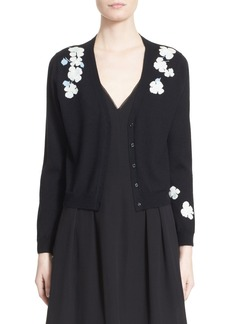 Nordstrom Signature and Caroline Issa 'Pansy' Floral Intarsia Knit Cashmere Cardigan