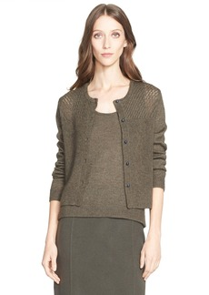 Nordstrom Signature and Caroline Issa 'Paris' Cashmere, Mohair & Silk Button Cardigan
