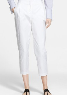 Nordstrom Signature and Caroline Issa Pleat Stretch Cotton Crop Pants