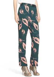 Nordstrom Signature and Caroline Issa Print Silk Pants