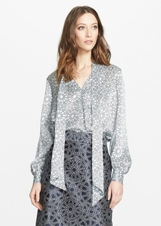 Nordstrom Signature and Caroline Issa Removable Tie Neck Silk Blouse