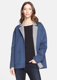 Nordstrom Signature and Caroline Issa Reversible Double Face Wool Swing Coat (Nordstrom Exclusive)