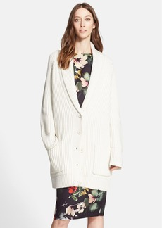 Nordstrom Signature and Caroline Issa Ribbed Cashmere Blend Cardigan