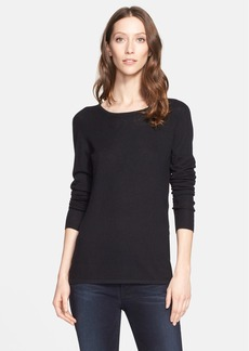 Nordstrom Signature and Caroline Issa Ribbed Yoke Cashmere Sweater (Nordstrom Exclusive)