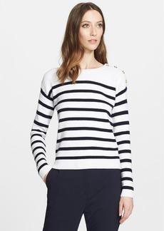 Nordstrom Signature and Caroline Issa Stripe Cashmere Sweater