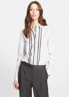 Nordstrom Signature and Caroline Issa Stripe Cotton Shirt