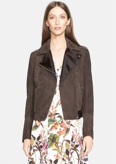 Nordstrom Signature and Caroline Issa Suede Biker Jacket