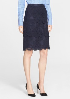 Nordstrom Signature and Caroline Issa Tiered Lace Skirt