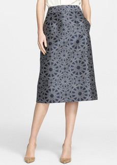 Nordstrom Signature and Caroline Issa Wool & Silk A-Line Skirt