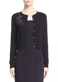Nordstrom Signature and Caroline Issa 'Galaxia' Beaded Metallic Merino Wool Cardigan
