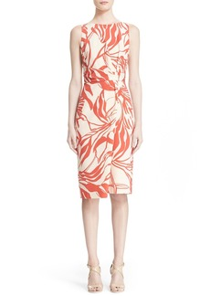 Nordstrom Signature and Caroline Issa 'Lily' Print Silk & Cotton Sheath Dress
