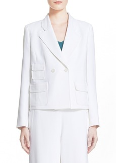 Nordstrom Signature and Caroline Issa 'Amelia' Double Breasted Jacket