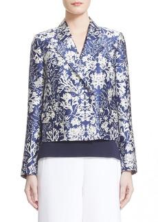 Nordstrom Signature and CarolineIssaPrint Wool & Silk Jacket