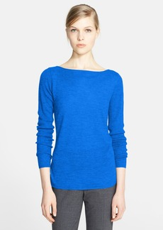Nordstrom Signature Ribbed Sleeve Featherweight Cashmere Sweater
