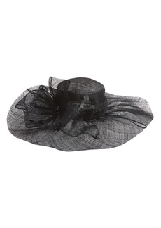 Nordstrom Sinamay Hat with Flower