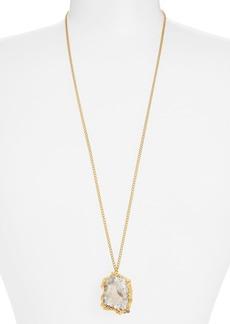 Nordstrom 'Sorcerer's Stone' Long Drusy Pendant Necklace
