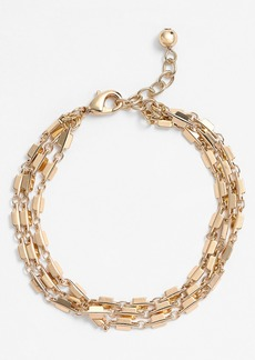 Nordstrom Square Link Three-Row Bracelet