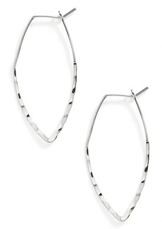 Nordstrom 'The Finishing Touch' Hammered Hoop Earrings