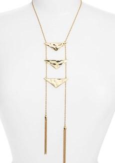 Nordstrom Triangle & Tassel Ladder Necklace