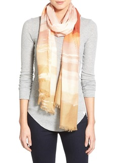 Nordstrom 'Watercolor Block' Cashmere & Silk Scarf