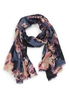 Nordstrom 'Winter Floral' Wool Challis Scarf