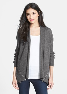 Nordstrom Zip Panel Open Front Cardigan