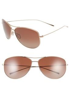 Oliver Peoples 'Kempner' 65mm Aviator Sunglasses