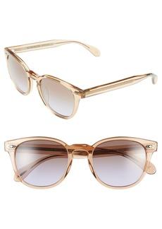 Oliver Peoples 'Sheldrake Plus' 52mm Retro Sunglasses