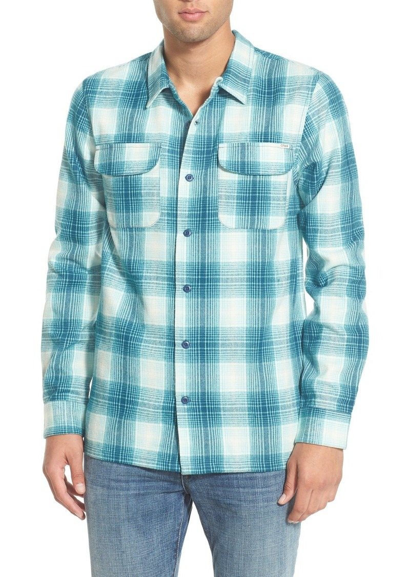 O 39 neill o 39 neill 39 el centro 39 flannel long sleeve shirt for Athletic cut flannel shirts