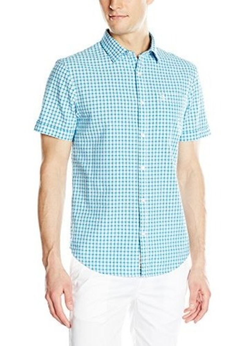 Original penguin original penguin men 39 s seersucker mini for Mens seersucker shirts on sale