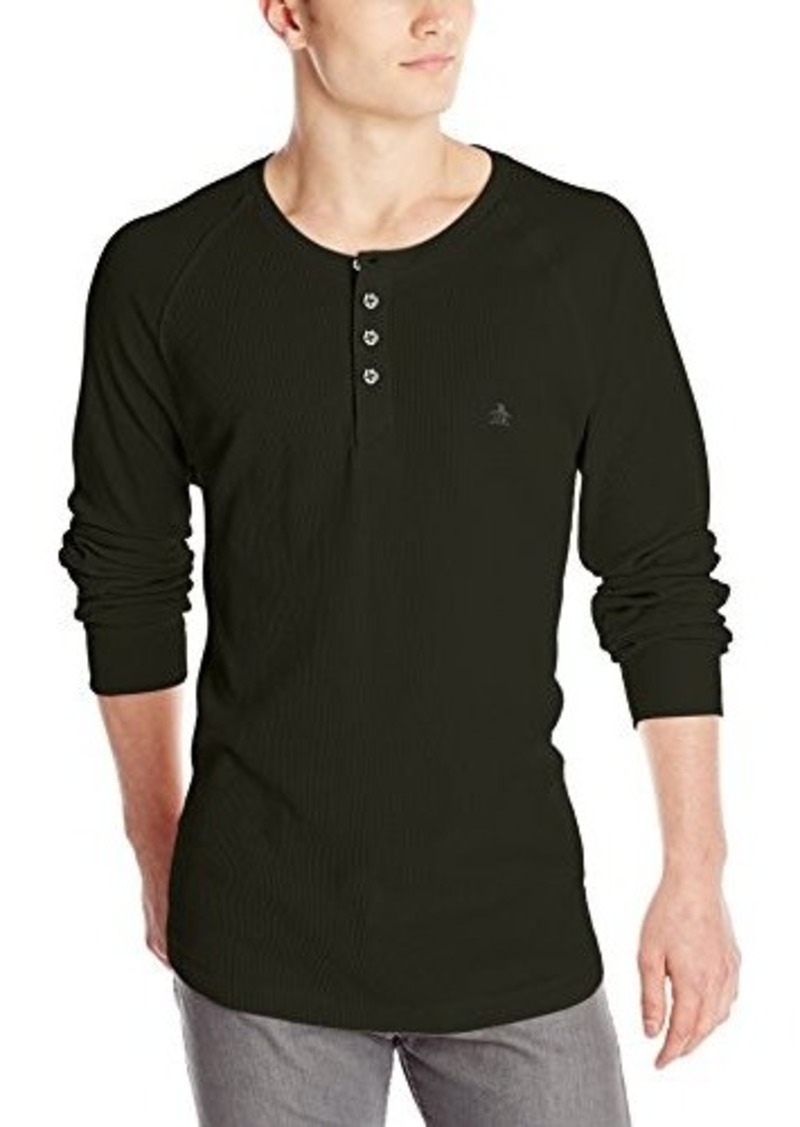 Original penguin original penguin men 39 s worrell long for Men s thermal henley long sleeve shirts