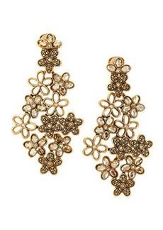 Crystal Daisy Clip-On Earrings, Amber   Crystal Daisy Clip-On Earrings, Amber