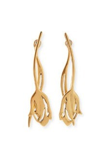 Delicate Tulip Golden Earrings   Delicate Tulip Golden Earrings