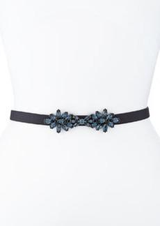 Floral-Crystal Leather Belt   Floral-Crystal Leather Belt