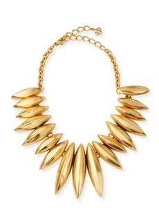 Golden Ridged Disc Necklace   Golden Ridged Disc Necklace