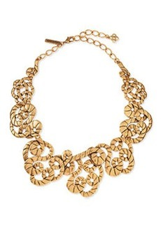 Golden Swirl Statement Necklace   Golden Swirl Statement Necklace