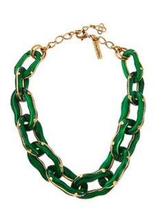 Green Resin Link Necklace   Green Resin Link Necklace