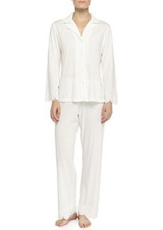 Heirloom Trellis Jersey Pajama Set, Ivory   Heirloom Trellis Jersey Pajama Set, Ivory
