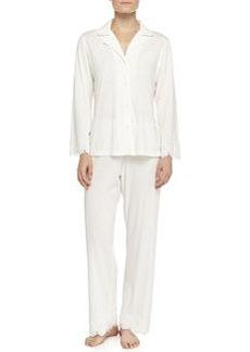 Heirloom Trellis Jersey Pajama Set, Ivory   Heirloom Trellis Jersey Pajama Set, Ivory