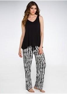 Oscar de la Renta Bamboo Impressions Knit Pajama Set
