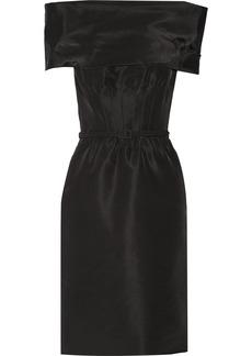 Oscar de la Renta Belted silk dress