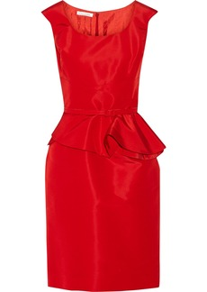 Oscar de la Renta Belted silk-faille dress