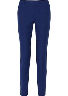 Oscar de la Renta Bouclé-tweed straight-leg pants